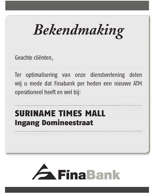 Image Bekendmaking Ad Suriname Times Mall